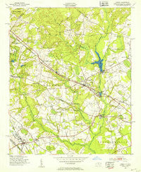 Gibson North Carolina Historical topographic map, 1:24000 scale, 7.5 X 7.5 Minute, Year 1949