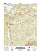 Glen Alpine North Carolina Current topographic map, 1:24000 scale, 7.5 X 7.5 Minute, Year 2016 from North Carolina Map Store