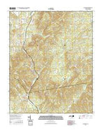 Glenwood North Carolina Current topographic map, 1:24000 scale, 7.5 X 7.5 Minute, Year 2016 from North Carolina Map Store