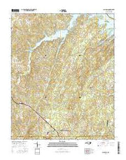 Gold Hill North Carolina Current topographic map, 1:24000 scale, 7.5 X 7.5 Minute, Year 2016 from North Carolina Maps Store