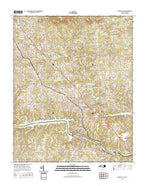 Granite Falls North Carolina Current topographic map, 1:24000 scale, 7.5 X 7.5 Minute, Year 2016 from North Carolina Map Store
