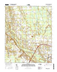 Greenville NW North Carolina Current topographic map, 1:24000 scale, 7.5 X 7.5 Minute, Year 2016