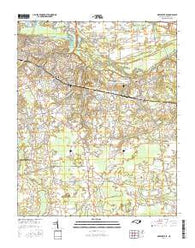 Greenville SE North Carolina Current topographic map, 1:24000 scale, 7.5 X 7.5 Minute, Year 2016