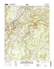Grifton North Carolina Current topographic map, 1:24000 scale, 7.5 X 7.5 Minute, Year 2016 from North Carolina Maps Store
