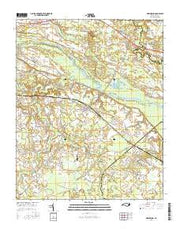 Grimesland North Carolina Current topographic map, 1:24000 scale, 7.5 X 7.5 Minute, Year 2016 from North Carolina Maps Store