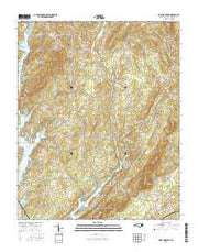 Grist Mountain North Carolina Current topographic map, 1:24000 scale, 7.5 X 7.5 Minute, Year 2016 from North Carolina Maps Store