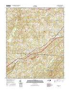 Grover North Carolina Current topographic map, 1:24000 scale, 7.5 X 7.5 Minute, Year 2016 from North Carolina Map Store