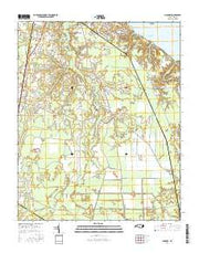 Hackney North Carolina Current topographic map, 1:24000 scale, 7.5 X 7.5 Minute, Year 2016 from North Carolina Maps Store