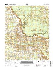 Hamilton North Carolina Current topographic map, 1:24000 scale, 7.5 X 7.5 Minute, Year 2016 from North Carolina Maps Store