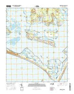 Harkers Island North Carolina Current topographic map, 1:24000 scale, 7.5 X 7.5 Minute, Year 2016 from North Carolina Map Store