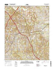 Harrisburg North Carolina Current topographic map, 1:24000 scale, 7.5 X 7.5 Minute, Year 2016 from North Carolina Maps Store