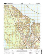 Havelock North Carolina Current topographic map, 1:24000 scale, 7.5 X 7.5 Minute, Year 2016 from North Carolina Map Store