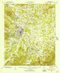 Hendersonville North Carolina Historical topographic map, 1:24000 scale, 7.5 X 7.5 Minute, Year 1946