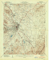 Hendersonville North Carolina Historical topographic map, 1:24000 scale, 7.5 X 7.5 Minute, Year 1947
