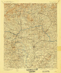 Hickory North Carolina Historical topographic map, 1:125000 scale, 30 X 30 Minute, Year 1895