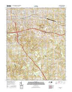 Hickory North Carolina Current topographic map, 1:24000 scale, 7.5 X 7.5 Minute, Year 2016 from North Carolina Map Store