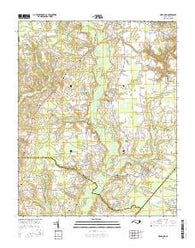Hobgood North Carolina Current topographic map, 1:24000 scale, 7.5 X 7.5 Minute, Year 2016
