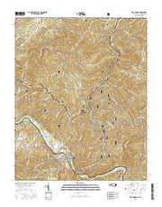 Hot Springs North Carolina Current topographic map, 1:24000 scale, 7.5 X 7.5 Minute, Year 2016 from North Carolina Maps Store