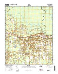 Jamesville North Carolina Current topographic map, 1:24000 scale, 7.5 X 7.5 Minute, Year 2016