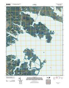 Jones Bay North Carolina Historical topographic map, 1:24000 scale, 7.5 X 7.5 Minute, Year 2010