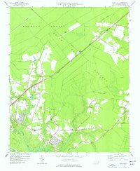 Kellum North Carolina Historical topographic map, 1:24000 scale, 7.5 X 7.5 Minute, Year 1977