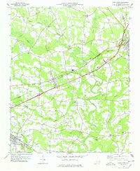 Kenly West North Carolina Historical topographic map, 1:24000 scale, 7.5 X 7.5 Minute, Year 1978