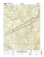 Kenly West North Carolina Current topographic map, 1:24000 scale, 7.5 X 7.5 Minute, Year 2016 from North Carolina Map Store
