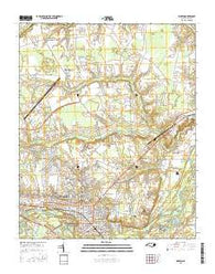 Kinston North Carolina Current topographic map, 1:24000 scale, 7.5 X 7.5 Minute, Year 2016