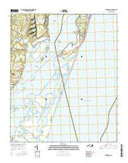 Kure Beach North Carolina Current topographic map, 1:24000 scale, 7.5 X 7.5 Minute, Year 2016 from North Carolina Maps Store