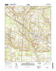 La Grange North Carolina Current topographic map, 1:24000 scale, 7.5 X 7.5 Minute, Year 2016