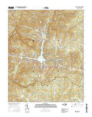 Lake Lure North Carolina Current topographic map, 1:24000 scale, 7.5 X 7.5 Minute, Year 2016 from North Carolina Maps Store