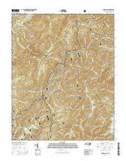 Lemon Gap North Carolina Current topographic map, 1:24000 scale, 7.5 X 7.5 Minute, Year 2016 from North Carolina Maps Store