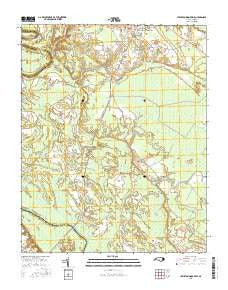 Lewiston Woodville North Carolina Current topographic map, 1:24000 scale, 7.5 X 7.5 Minute, Year 2016