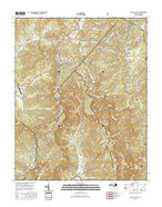 Linville Falls North Carolina Current topographic map, 1:24000 scale, 7.5 X 7.5 Minute, Year 2016 from North Carolina Map Store