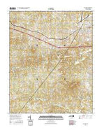 Longview North Carolina Current topographic map, 1:24000 scale, 7.5 X 7.5 Minute, Year 2016 from North Carolina Map Store