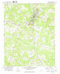 Louisburg North Carolina Historical topographic map, 1:24000 scale, 7.5 X 7.5 Minute, Year 1978