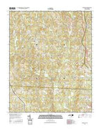 Lowesville North Carolina Current topographic map, 1:24000 scale, 7.5 X 7.5 Minute, Year 2016 from North Carolina Map Store