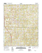 Maiden North Carolina Current topographic map, 1:24000 scale, 7.5 X 7.5 Minute, Year 2016 from North Carolina Map Store