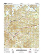 Marion East North Carolina Current topographic map, 1:24000 scale, 7.5 X 7.5 Minute, Year 2016 from North Carolina Map Store
