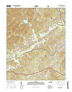 Marion West North Carolina Current topographic map, 1:24000 scale, 7.5 X 7.5 Minute, Year 2016 from North Carolina Map Store