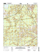 Masontown North Carolina Current topographic map, 1:24000 scale, 7.5 X 7.5 Minute, Year 2016 from North Carolina Map Store