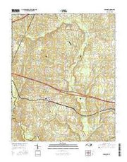 Middlesex North Carolina Current topographic map, 1:24000 scale, 7.5 X 7.5 Minute, Year 2016 from North Carolina Maps Store