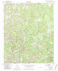 Millstone Lake North Carolina Historical topographic map, 1:24000 scale, 7.5 X 7.5 Minute, Year 1949