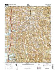 Mooresville North Carolina Current topographic map, 1:24000 scale, 7.5 X 7.5 Minute, Year 2016