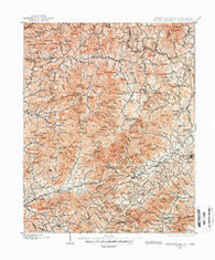 Mount Mitchell North Carolina Historical topographic map, 1:125000 scale, 30 X 30 Minute, Year 1900