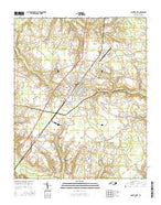 Mount Olive North Carolina Current topographic map, 1:24000 scale, 7.5 X 7.5 Minute, Year 2016 from North Carolina Map Store
