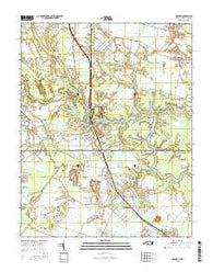 Moyock North Carolina Current topographic map, 1:24000 scale, 7.5 X 7.5 Minute, Year 2016