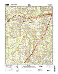 Nashville North Carolina Current topographic map, 1:24000 scale, 7.5 X 7.5 Minute, Year 2016