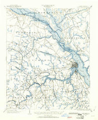 New Bern North Carolina Historical topographic map, 1:62500 scale, 15 X 15 Minute, Year 1901