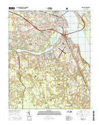 New Bern North Carolina Current topographic map, 1:24000 scale, 7.5 X 7.5 Minute, Year 2016